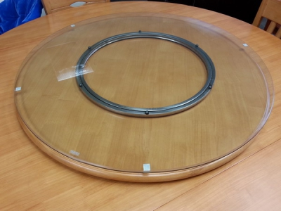 glass turn table a#