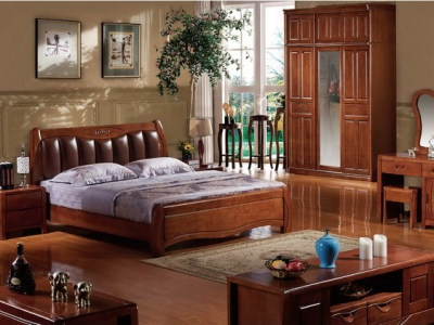 hard wood bed_M102#