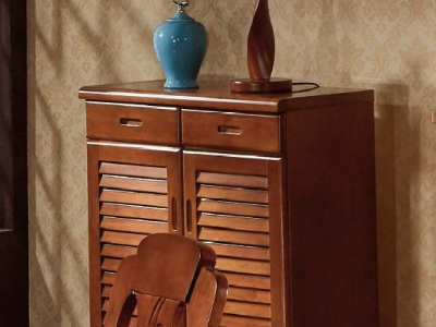 solid wood shoe cabinet 501#