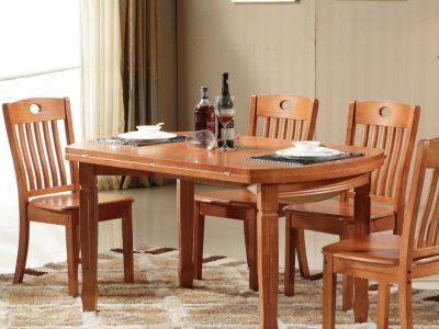 Defective foldable rounded dining table