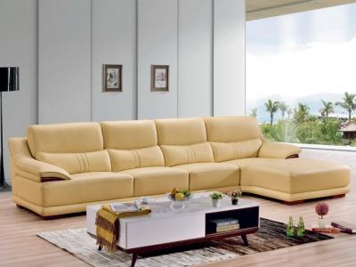 Genuine leather sofa_6015#