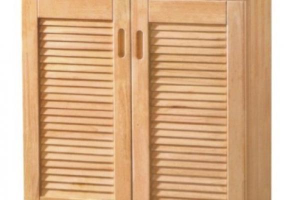 2 doors hard wood shoe cabinet