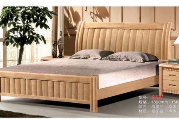 Hard wood bed 918#